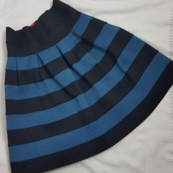 Anthropologie Dresses & Skirts - Anthro Girls from Savoy striped circle skirt M L